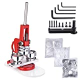 Yescom 2 1/4 inch 58mm Button Badge Maker Punch Press Machine with 1000 Pcs Pin-back Button Parts and Circle Cutter (Color: Red, Tamaño: 58mm)