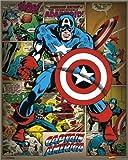 Poster Marvel Comics - Captain America Retro in size: 40 x 50 cm