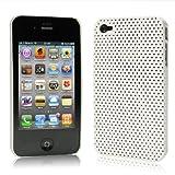 iPhone  4  ケース ハードプラスチック  ホワイト 液晶保護フィルム   USB充電ケーブル付 送料無料