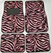 Pink Zebra Animal Print Front &amp; Rear Car Truck SUV Carpet Floor Mats