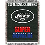 "New York Jets NFL Super Bowl Commemorative Woven Tapestry Throw (48""x60"")"
