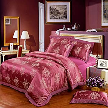 diaidi fadfay parure de de lit l gante champ tre et fleurie coton coton et soie 4. Black Bedroom Furniture Sets. Home Design Ideas