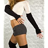 Fierce & Friendly KD dance Arm Warmers, Stretch Knit Fingerless Gloves with Thumb Hole, High Quality, Soft, Fashionable & Functional, Made In New York City USA