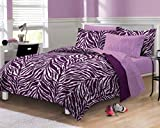 Zebra Purple Ultra Soft Microfiber Girls Comforter Sheet Set