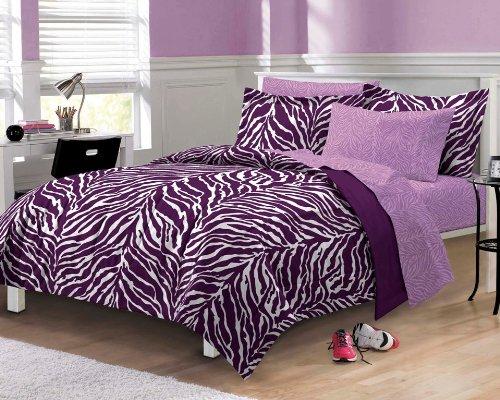 Purple Zebra Bedding: Purple Zebra Print Comforter Set
