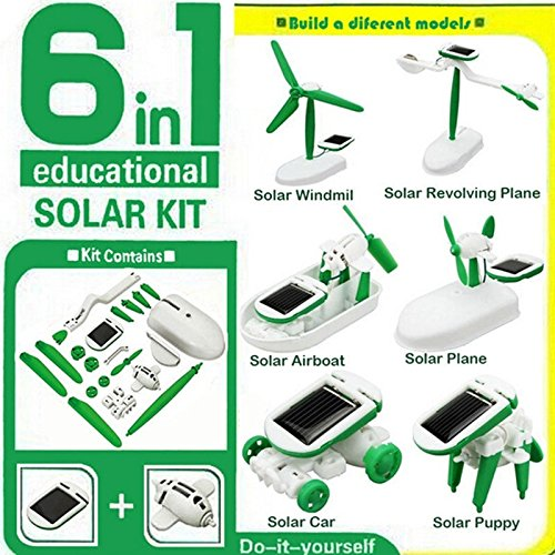 6 in 1 Creative DIY Education Learning Solar Power Robot Kit Children Toys Gift (Six In One Solar Robot Kit compare prices)