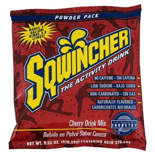 Sqwincher 016003-La 9.53 Oz Powder Concentrate Electrolyte Replacement Beverage Mix, 1 Gallon Yield, Lemonade Flavor (Case Of 80)