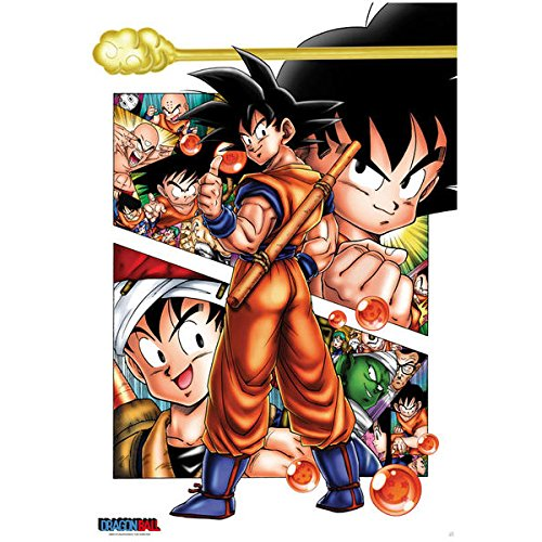 """Abystyle - Poster - Dragon Ball Z """"Sangoku Story"""" 98X68Cm"""