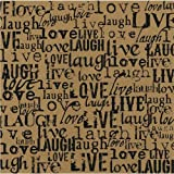 Canvas Corp - Black and Kraft Collection - 12 x 12 Paper - Live Love Laugh (15 Pack)