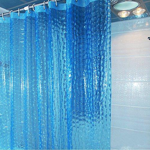 JBtek 3D Effect Bathroom Curtain 3D Water Cube Mold