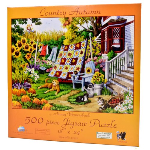 61aXga GeKL Reviews Country Autumn 500pc Jigsaw Puzzle by Nancy Wernersbach
