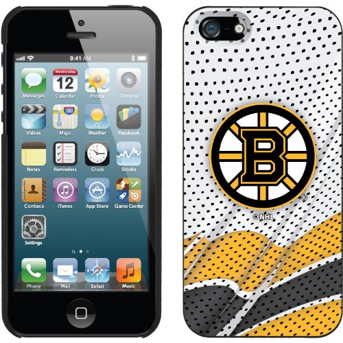 Special Sale Boston Bruins® - Away Jersey design on a Black iPhone 5s / 5 Thinshield Snap-On Case by Coveroo