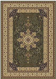 Luxury green rugs silk traditional rug for Living room rugs 6x9