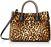 MILLY Logan Haircalf Convertible Top-Handle Bag