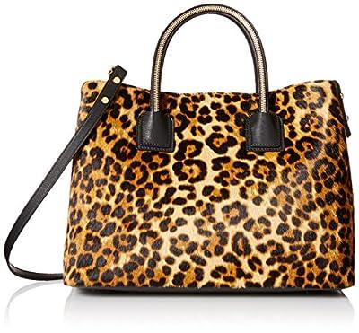 MILLY Logan Haircalf Convertible Top-Handle Bag