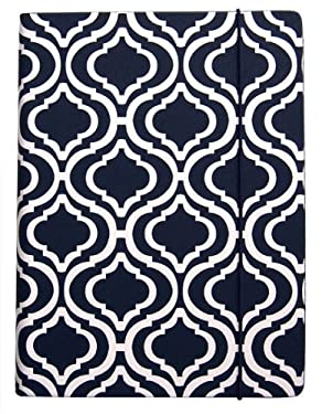 PUNCHCASE by Leslie Hsu Hansen Cover, Navy & White Trellis Print (fits Kindle, Paperwhite, and Touch)
