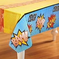 Superhero Comics Plastic Tablecover