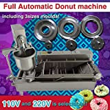 Automatic Donut Making Machine/automatic Donut Maker/auto Donuts Frying Machine/Auto Molding,Auto Frying,Auto turning,Auto Collecting by MegaLane (Color: Silver, Tamaño: 1200*540*670mm)