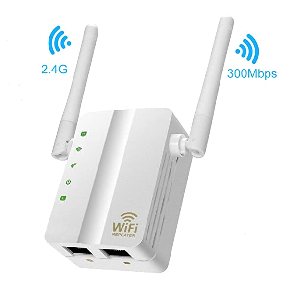 Wifi Repeater,MSDADA 300Mbps Fast Speed WiFi Extender,2.4GHz Supports Router/Repeater/AP Mode,Internet Signal Booster Extending WiFi to Smart Home & A