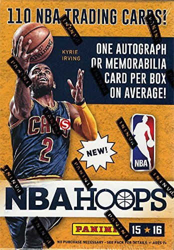 2015 2016 Hoops NBA Basketball Series Unopened Blaster Box Made By Panini with 110 Cards Per Box and Chance for Blaster EXCLUSIVE Autographs and Game Used Jerseys