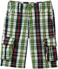 Wes and Willy Little Boys39 Plaid Cargo Short
