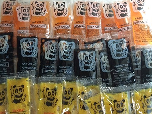 Chinese Soy Duck Mustard Sauce Packets - 50 Each for a Total of 150 Chinese Portion Control Single Serve Carry Out Packets by Kari-Out (Portion Control Sauce compare prices)