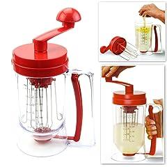 Chunshop Manual Pancake Batter Mixer & Dispenser For Perfect Pancakes, Waffles, Cupcakes & More