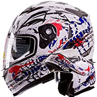 Bleeding Freedom Scorpion Modular Dual Visor Motorcycle / Snowmobile Helmet DOT Approved IV2 Model #953 (M) from IV2 Helmets