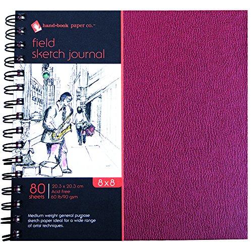 Global Art Materials Field Sketch Artist Journal Hand Book, 8 by 8-Inch