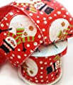 5 yards of Christmas Snowman Wired edge satin ribbon 63mm wide