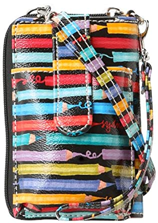 Sydney Love Colored Pencils Zip Around Cell Phone Wristlet,Multi,One Size