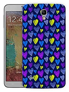 """Humor Gang Colorful Hearts Neon Printed Designer Mobile Back Cover For """"Samsung Galaxy Mega 6.3"""" (3D, Matte, Premium Quality Snap On Case)"""