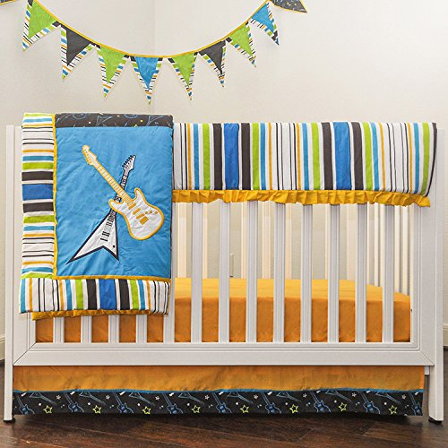 Pam Grace Creations Rockstar Mix & Match 10 Piece Crib Bedding Set