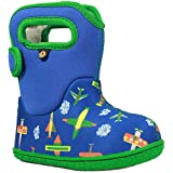 Bogs Baby Snow Boot, Planes Blue/Multi, 6 M US Toddler