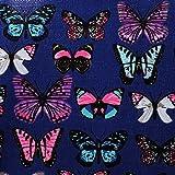 Sugar Sweet Bags Ladies Butterfly Print Holdall Trolley Weekend Bag Hand Luggage Travel Bag M917 (Dark Blue)