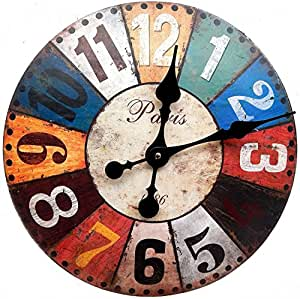 Reloj de pared diseno paris 1886 muy grande decoracion - Reloj grande de pared ...