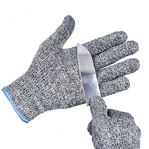 TTLIFE Cut Resistant Gloves- Lightweight, Breathable, and Extra Comfortable - Available in Sizes Medium, Large Best Food Grade Kitchen Level 5 Cut Protection (Medium) (Meat Cutter Gloves compare prices)