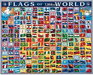 White Mountain Puzzles : Flags Of The World - 1000 Pcs