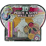 3D Peace And Love Wall Art, Multi Color