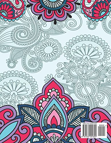 Henna Art Coloring Book For Adults (The Stress Relieving Adult Coloring Pages)