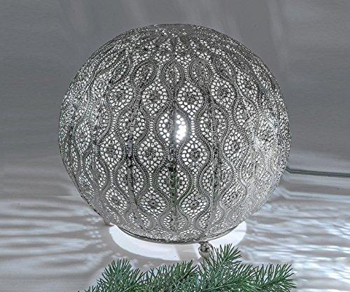kugellampe lampe leuchte capri metall silber 25 cm orientalisch formano. Black Bedroom Furniture Sets. Home Design Ideas