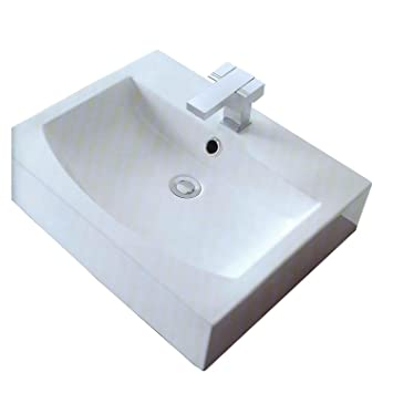 Cantrio PS-006 Above Mount Bathroom Sink, 23.75 x 17.5-Inch