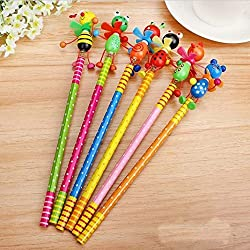 My Party Suppliers Windmill Animal Doll designs Non-toxic lead free wooden pencils for school students writing prizeHB for drawing 6pcs