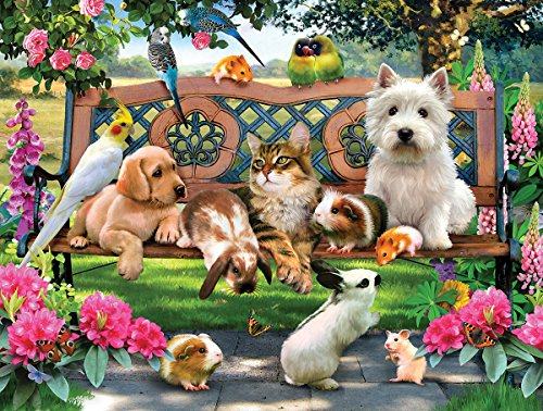 SunsOut Pets in The Park 500 Piece Jigsaw Puzzle