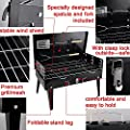 Acelectronic® NEW BBQ BARBECUE GRILL FOLDING PORTABLE CHARCOAL GARDEN TRAVEL OUTDOOR Picnic CAMPING + TOOLS