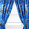 "Disney Cars Window Panel - Set of 2 Panels & Tie Backs, 42"" x 63"" each"