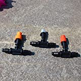 "Generic MJ1311 : Misting Sprinklers With 3/8"" Tee Barbed Connector Micro Sprinkler Irrigation Cooling Gardenging..."