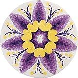 GRUND 洗える 円形 ラグマット 丸型 北欧モダン 紫 パープル 直径 140 ㎝