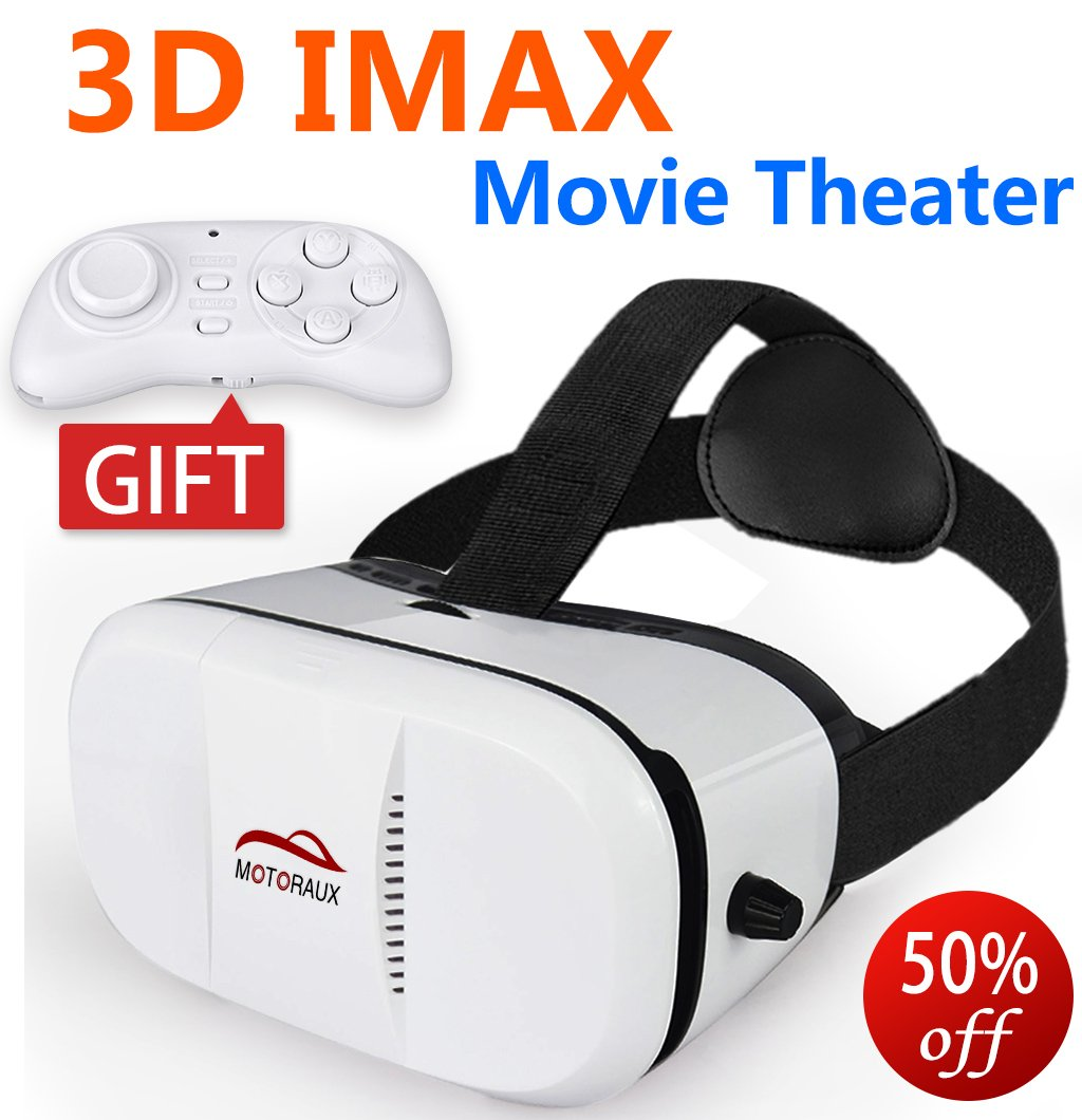 Upgraded version IMAX Movie Visor 3D Vr Virtual Reality Glasses Innovative Design Fit for iOS, Android & PC phones Series within 4.0-5.9inches