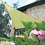 Easy Gardener 10908 Sun Sail Triangular Sun Shade, Beige